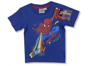 Detské tričko, krátky rukáv - Spiderman, tm.modré