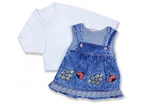 džínsové nohavice pre bábätká lienka