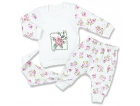 oblečenie pre bábätká ruža biela