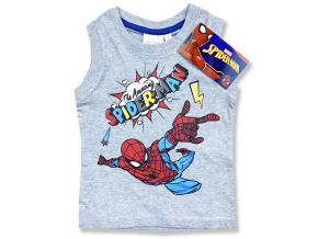 Detské tričko bez rukávov - Spiderman, sivé