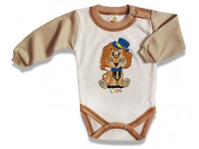 Detské body – LION, hnedo-biele