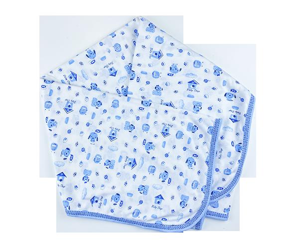 Detská deka - Psík, modrá 100x100 cm