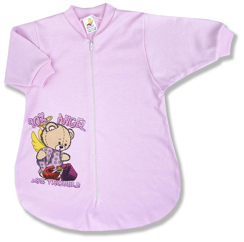 Spací vak pre babätká - ANGEL - ružový veľkosť: 56
