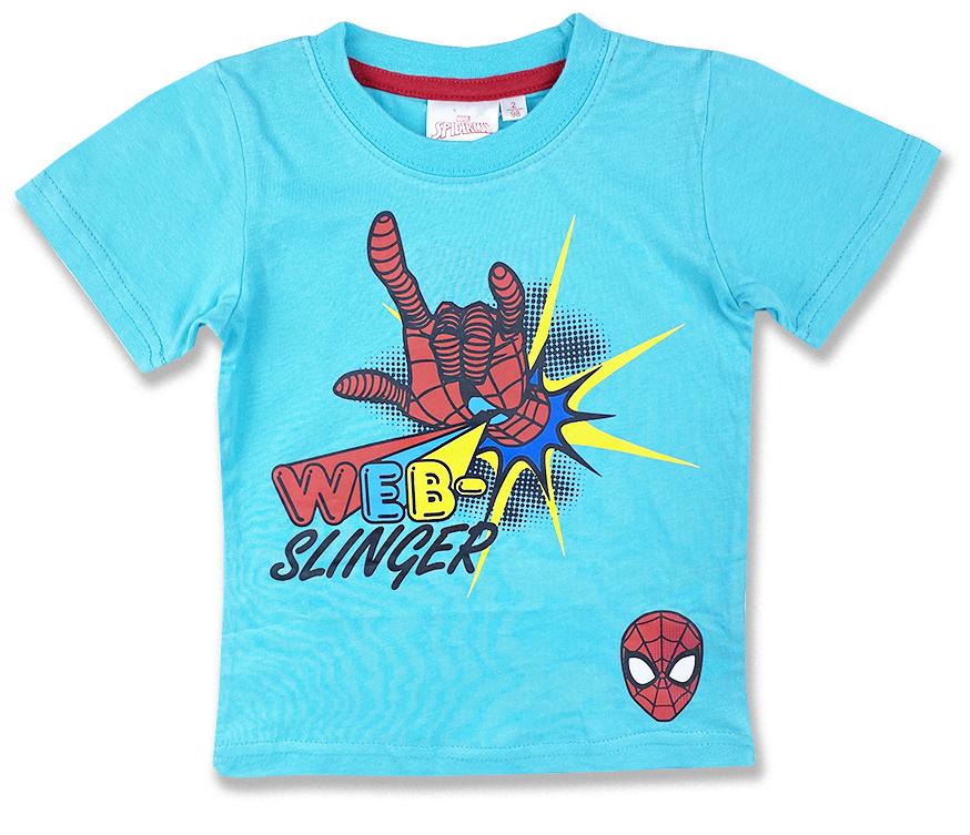 Detské tričko na krátky rukáv - Spiderman, tyrkysové veľkosť: 98