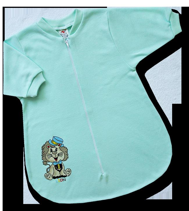Spací vak pre bábätká - LION, zelený veľkosť: 56