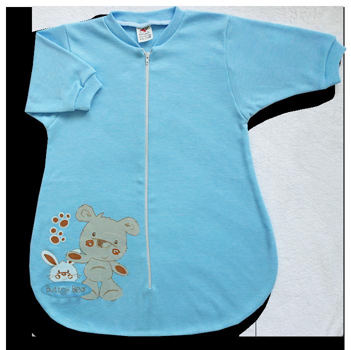 Spací vak pre bábätká – BEAR, modrý veľkosť: 56