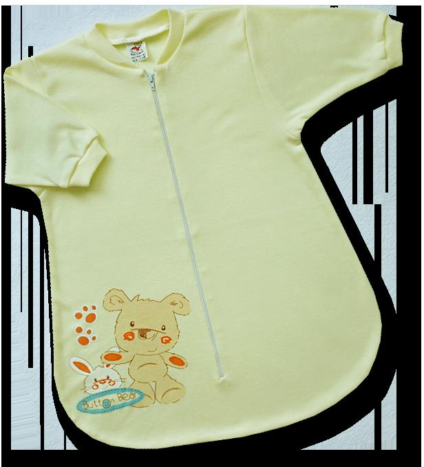 Spací vak pre bábätká - BEAR, žltý veľkosť: 56