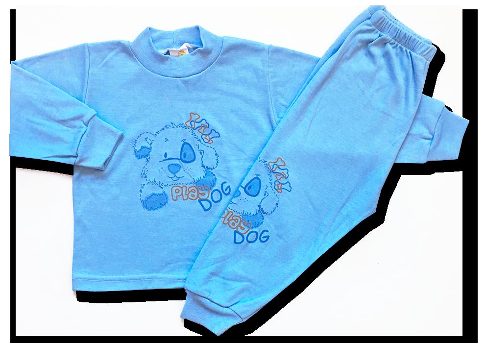 Chlapčenské pyžamo – Play dog, modré veľkosť: 86