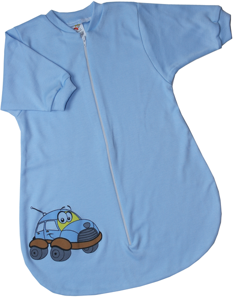 Spací vak pre bábätká– CAR, modrý veľkosť: 56