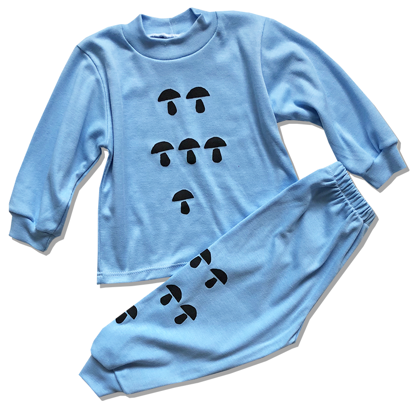 Detské pyžamo – HUBY, modré veľkosť: 86