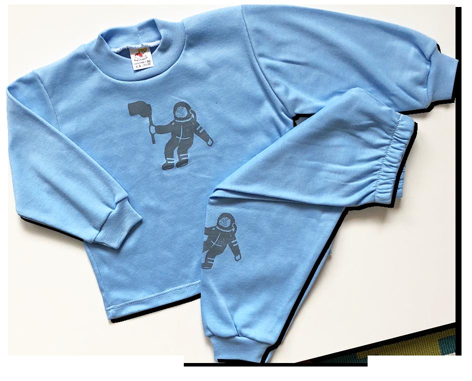 Detské pyžamo – Kozmonaut, modré veľkosť: 86