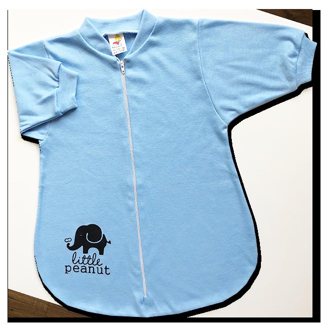 Spací vak pre bábätká - Sloník, modrý veľkosť: 56