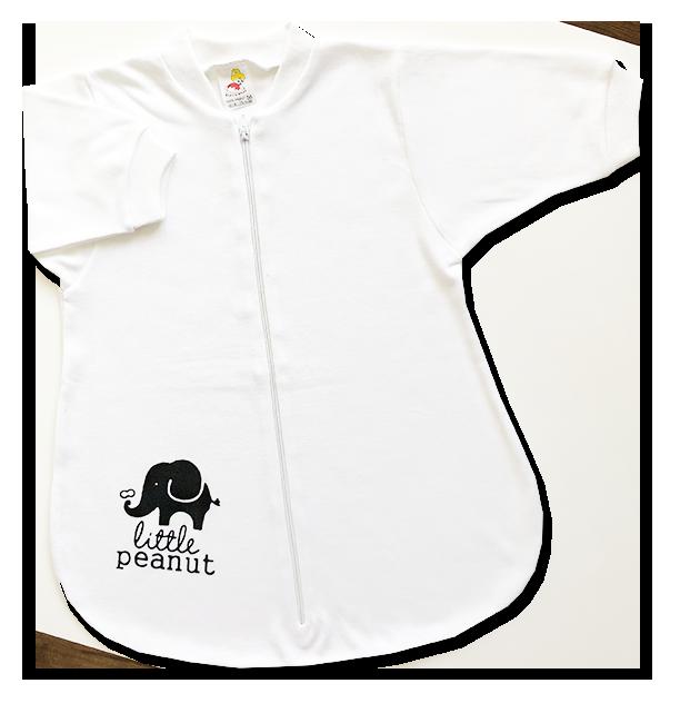 Spací vak pre bábätká - Sloník, biely veľkosť: 56