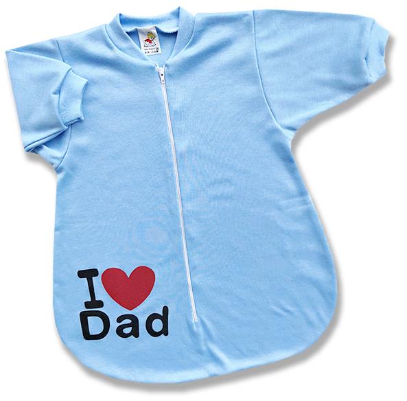 Spací vak pre bábätká - Dad, modrý veľkosť: 56