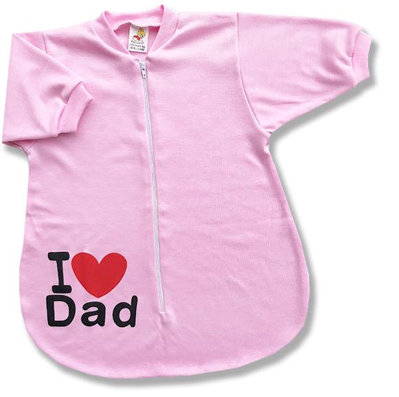 Spací vak pre bábätká - Dad, ružový veľkosť: 68