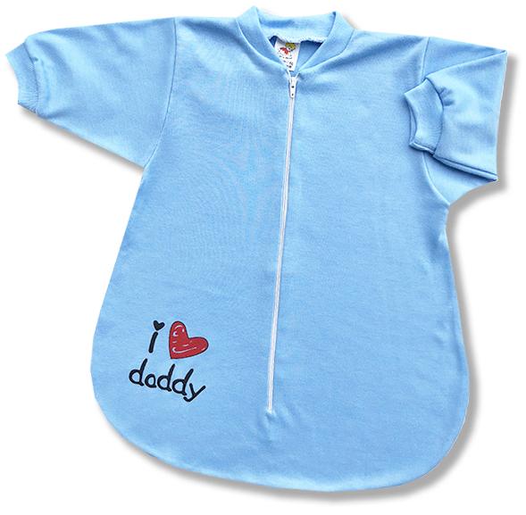 Spací vak pre bábätká - Daddy, modrý veľkosť: 56