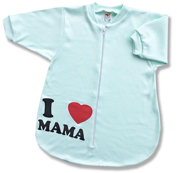 Spací vak pre bábätká - Mama, zelený veľkosť: 56