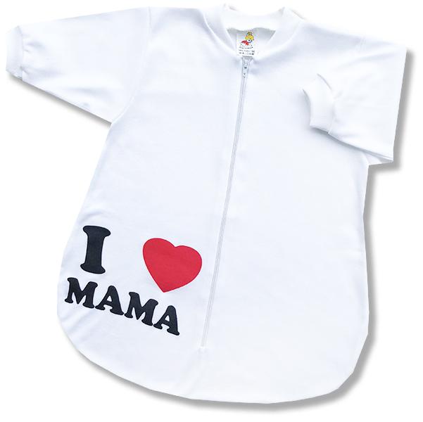 Spací vak pre bábätká - Mama, biely veľkosť: 56