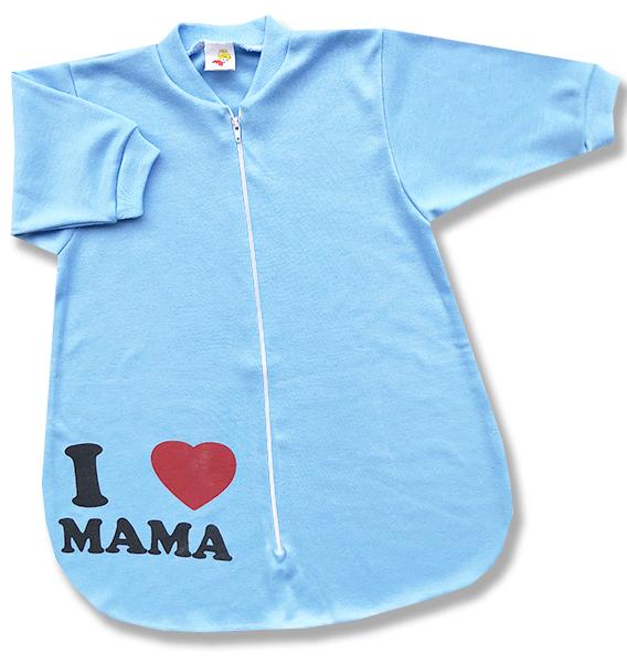 Spací vak pre bábätká - Mama, modrý veľkosť: 62