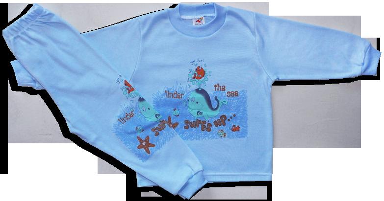 Detské pyžamo - VEĽRYBA, modré veľkosť: 86