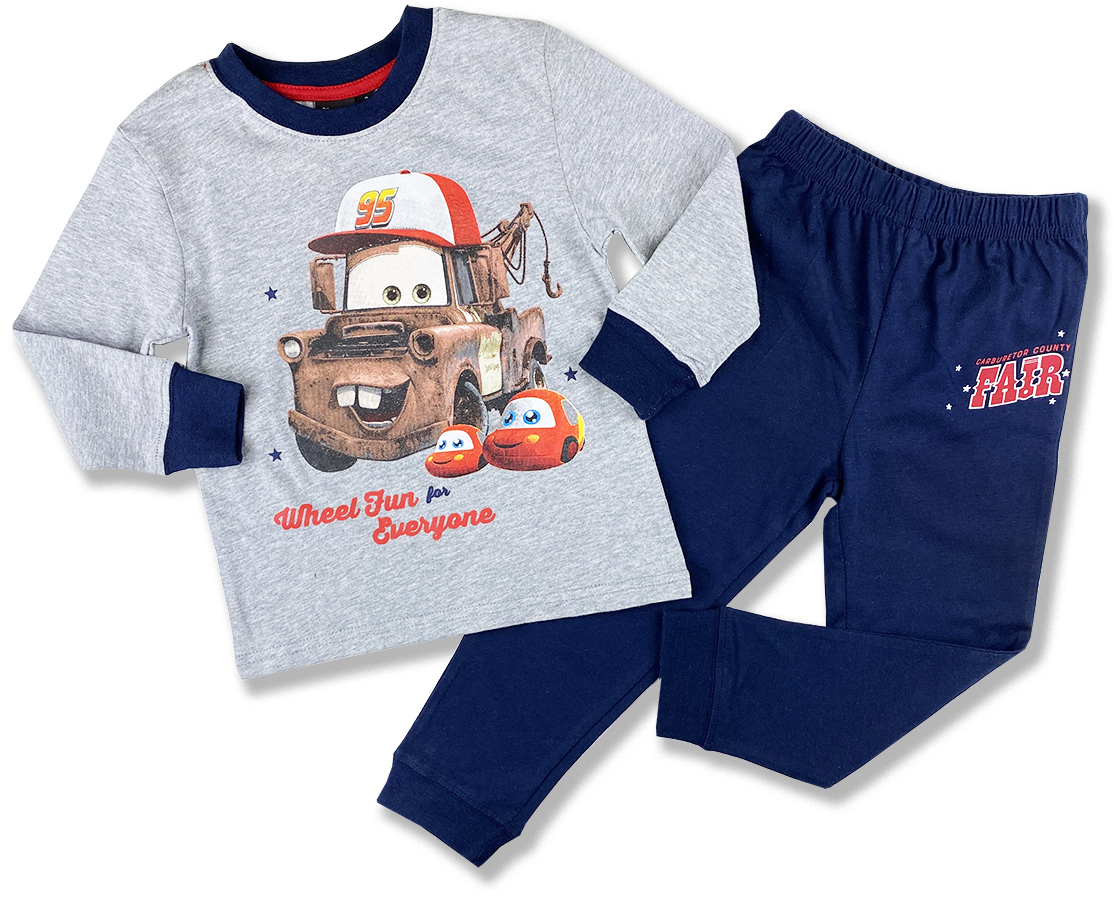 Chlapčenské pyžamo - Disney Cars, sivé veľkosť: 116