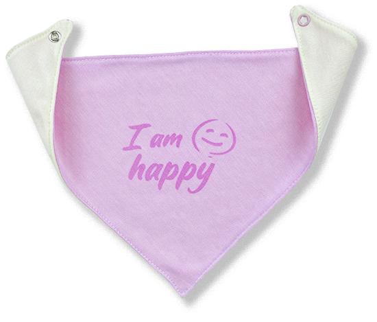 Bavlnený slintáčik pre bábätká - Happy, ruž.