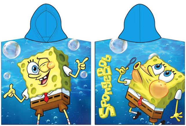 Pončo pre deti - Spongebob, modré