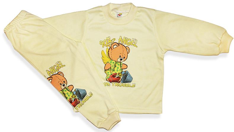 Detské pyžamo - ANGEL, žlté veľkosť: 116