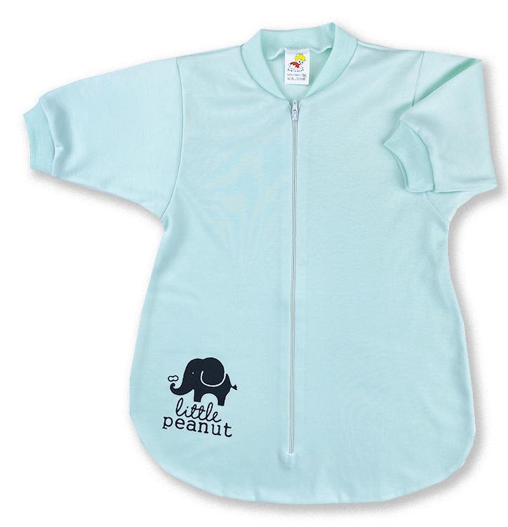 Spací vak pre bábätká - Sloník, zelený veľkosť: 56