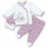 3dielny kojenecký set - Kvetinky