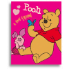 Detská deka Fleesová - Macko PU, ružová, 80x110cm