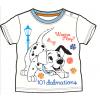 Tričko pre bábätká, krátky rukáv - 101 DALMATíNCOV, biele