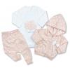 3dielny set pre bábätká-Elci srdiečka, marhuľový
