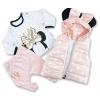 3dielny dievčenský set pre bábätká - Mini Hippil, marhuľový