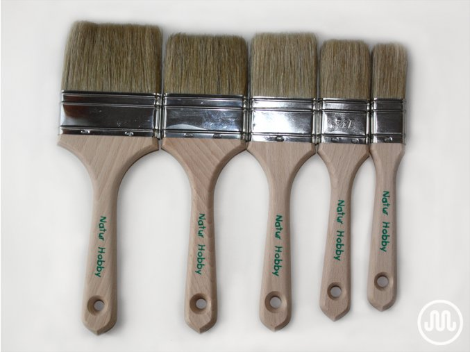 Flat brushes Natur Hobby