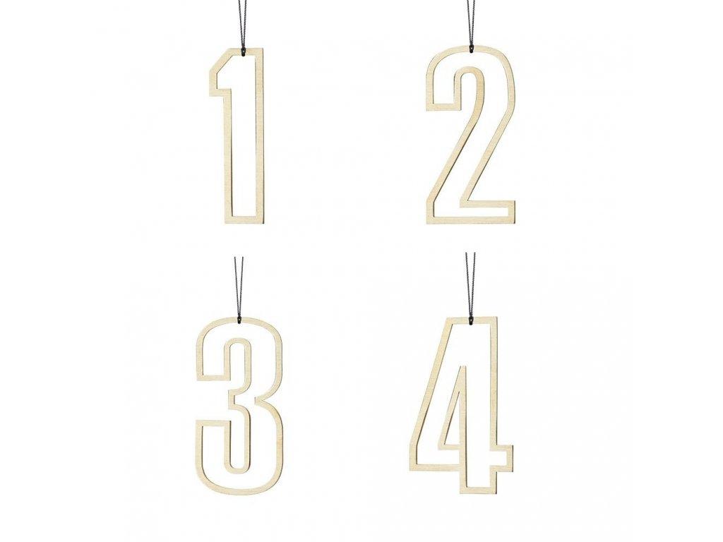 Zlatá adventní čísla - vykrojená