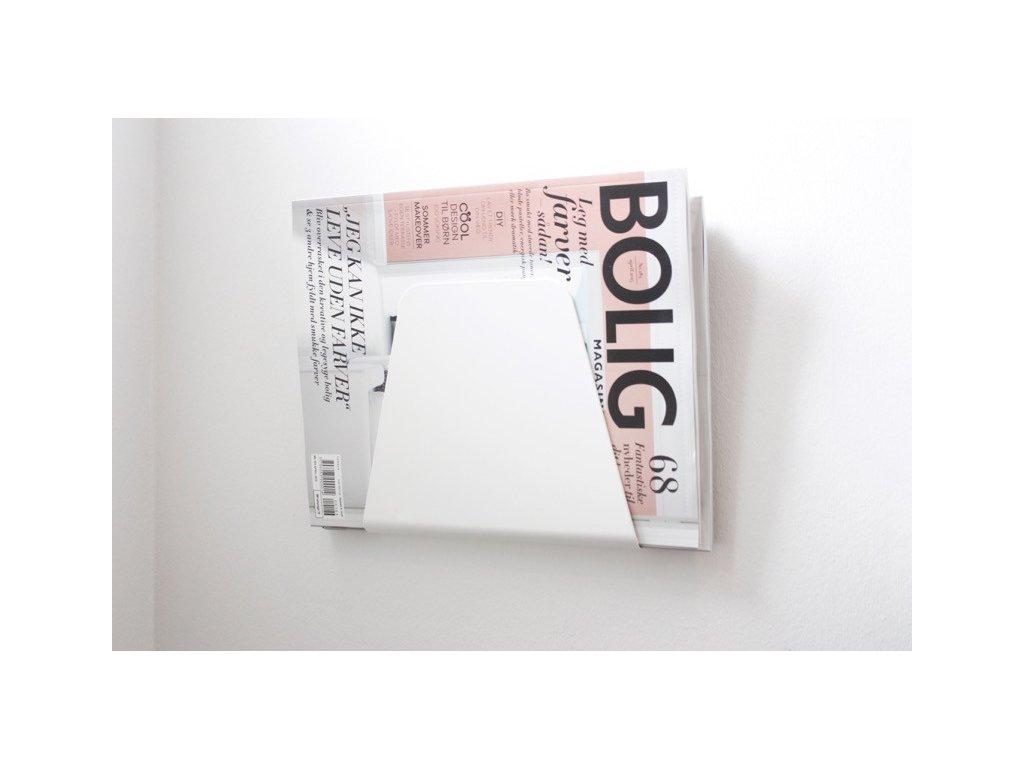 Stojan na časopisy - White