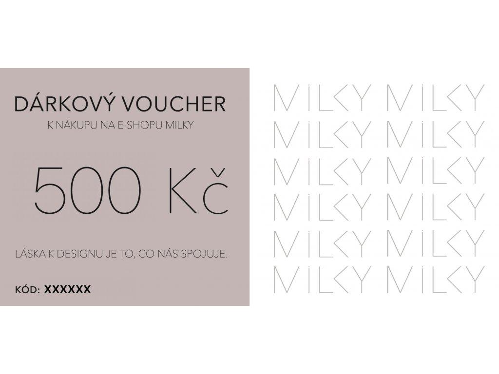 Dárkový voucher v elektronické podobě - 500Kč
