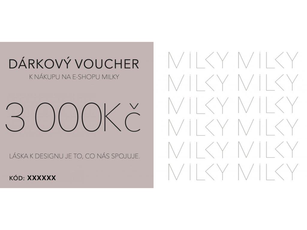 Dárkový voucher v elektronické podobě - 3000Kč