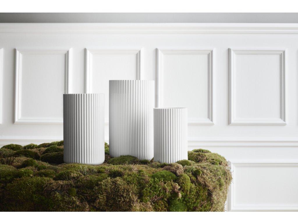 Váza Lyngby White - 25 cm