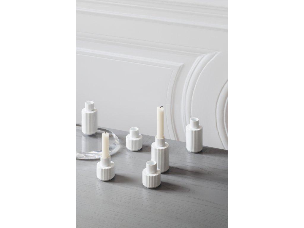 Svícen Lyngby White - 11 cm