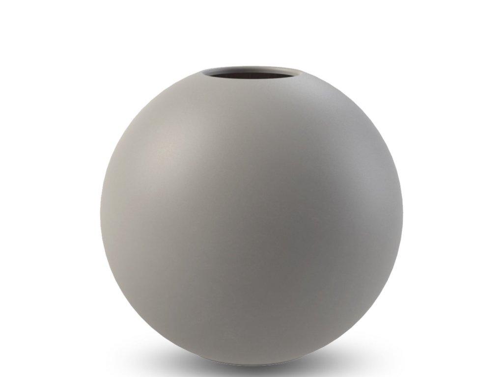 Váza Ball Grey - 30 cm