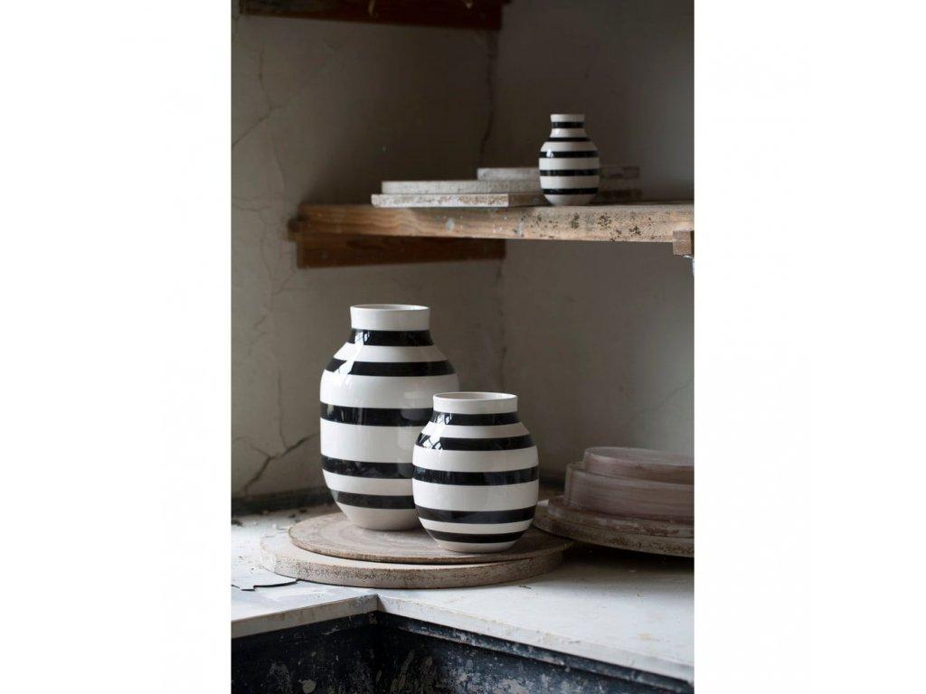 Váza Omaggio Black - 31 cm