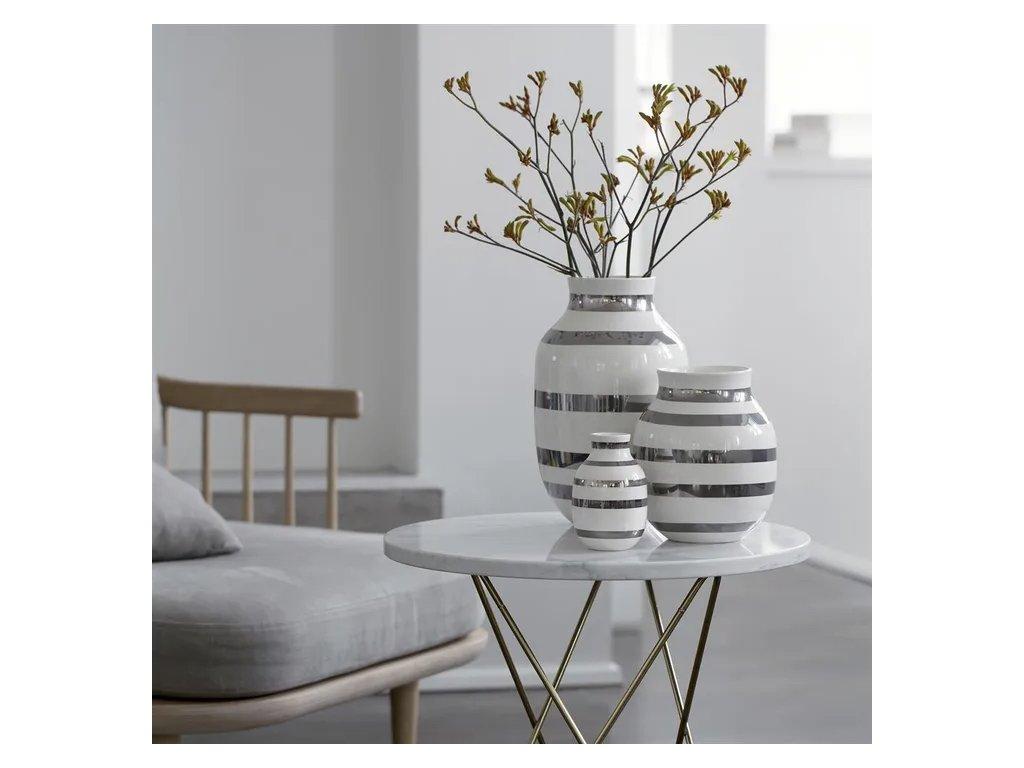 Váza Omaggio Silver - 31 cm