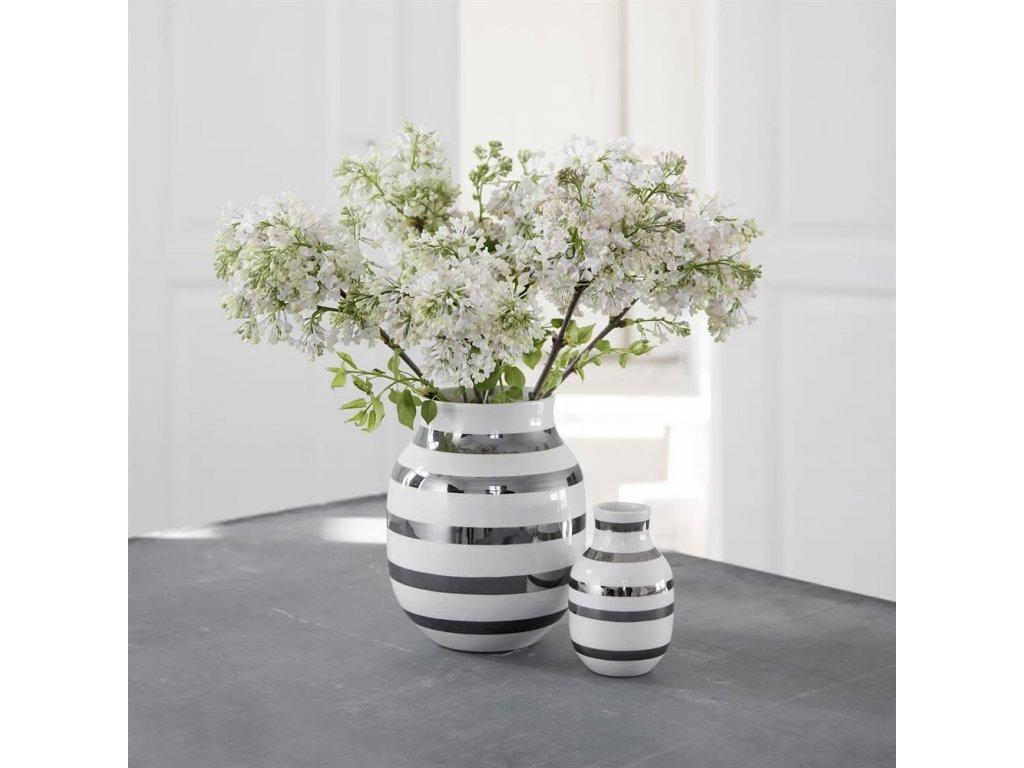 Váza Omaggio Silver - 12,5 cm