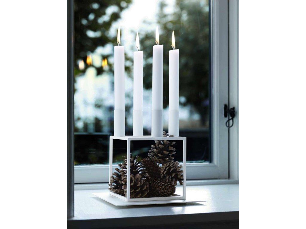 Svícen Kubus 4 - White