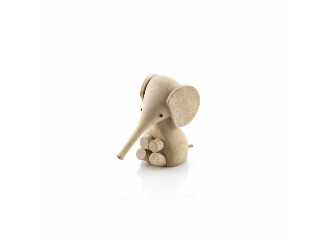 Dřevěný slon Rubber Wood  - 11 cm