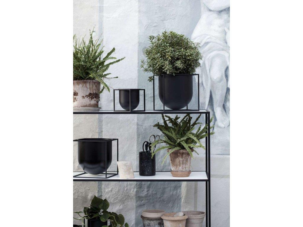 Květináč Kubus Black - 23 cm