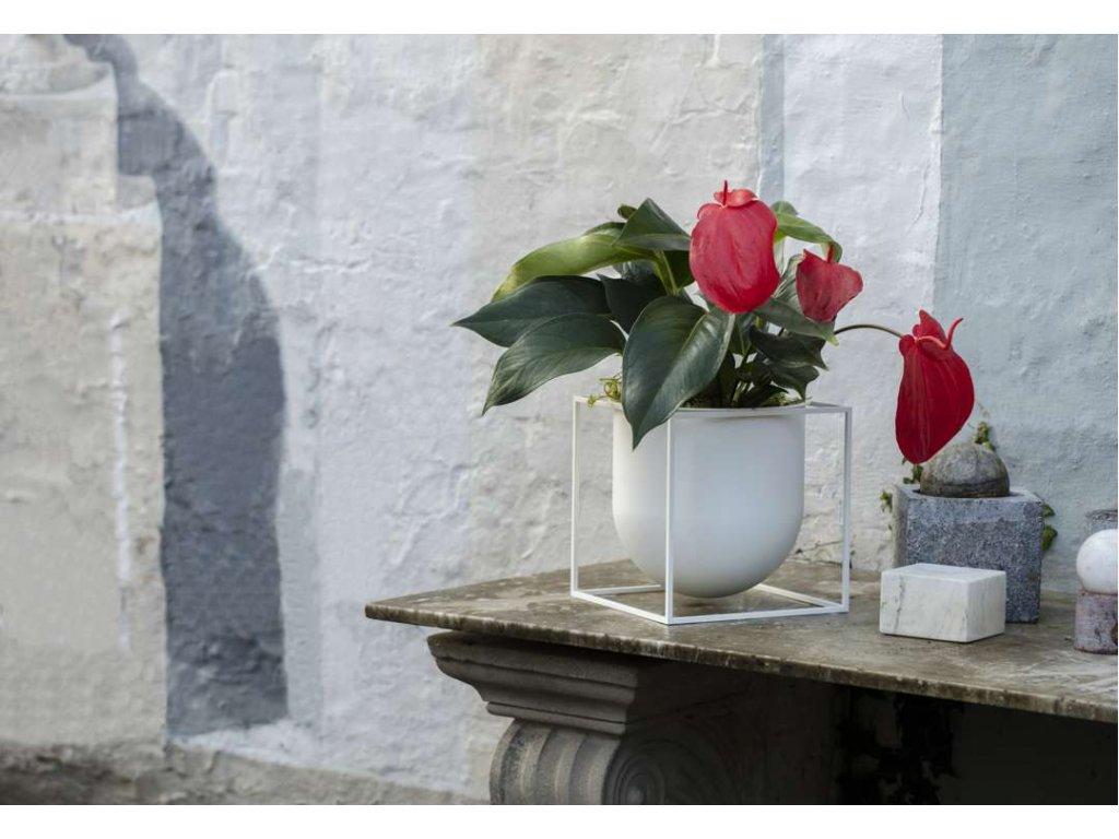 Květináč Kubus White - 23 cm