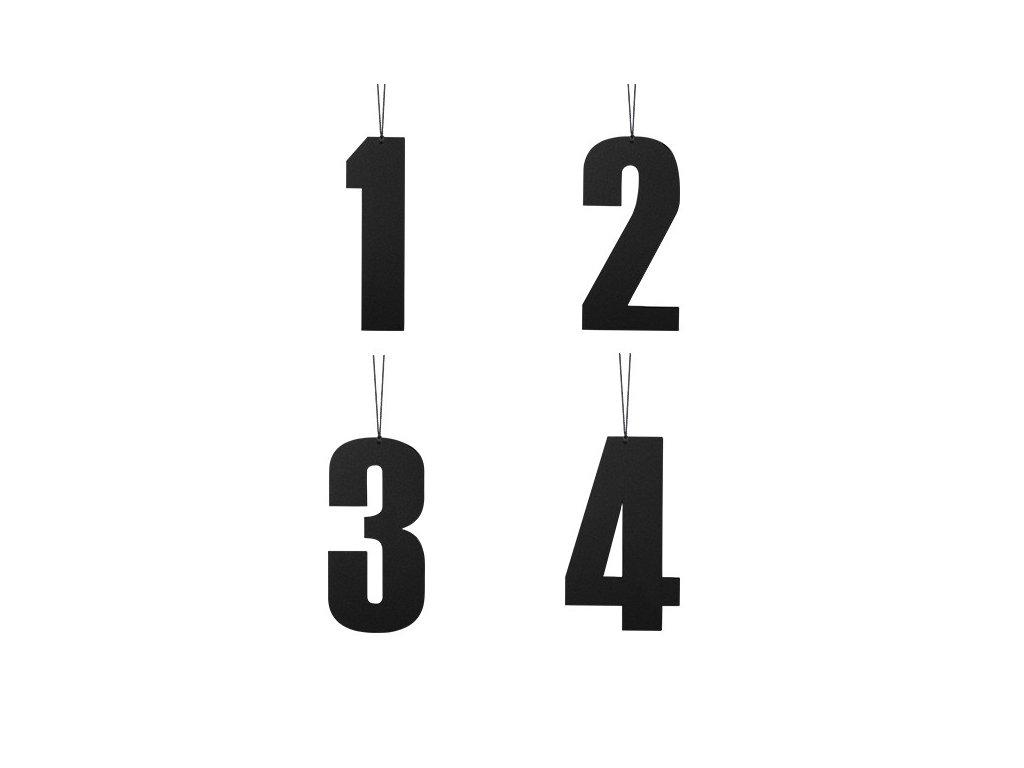 Černá adventní čísla - plná